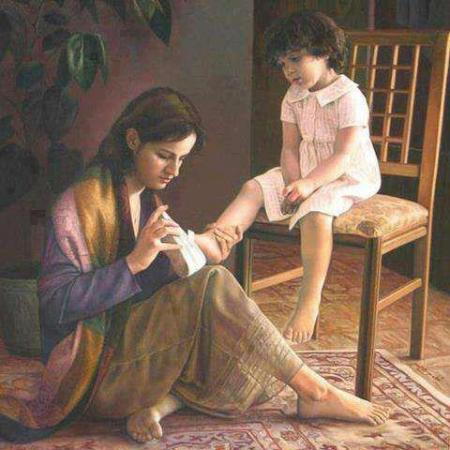 mother tieng lace for kid
